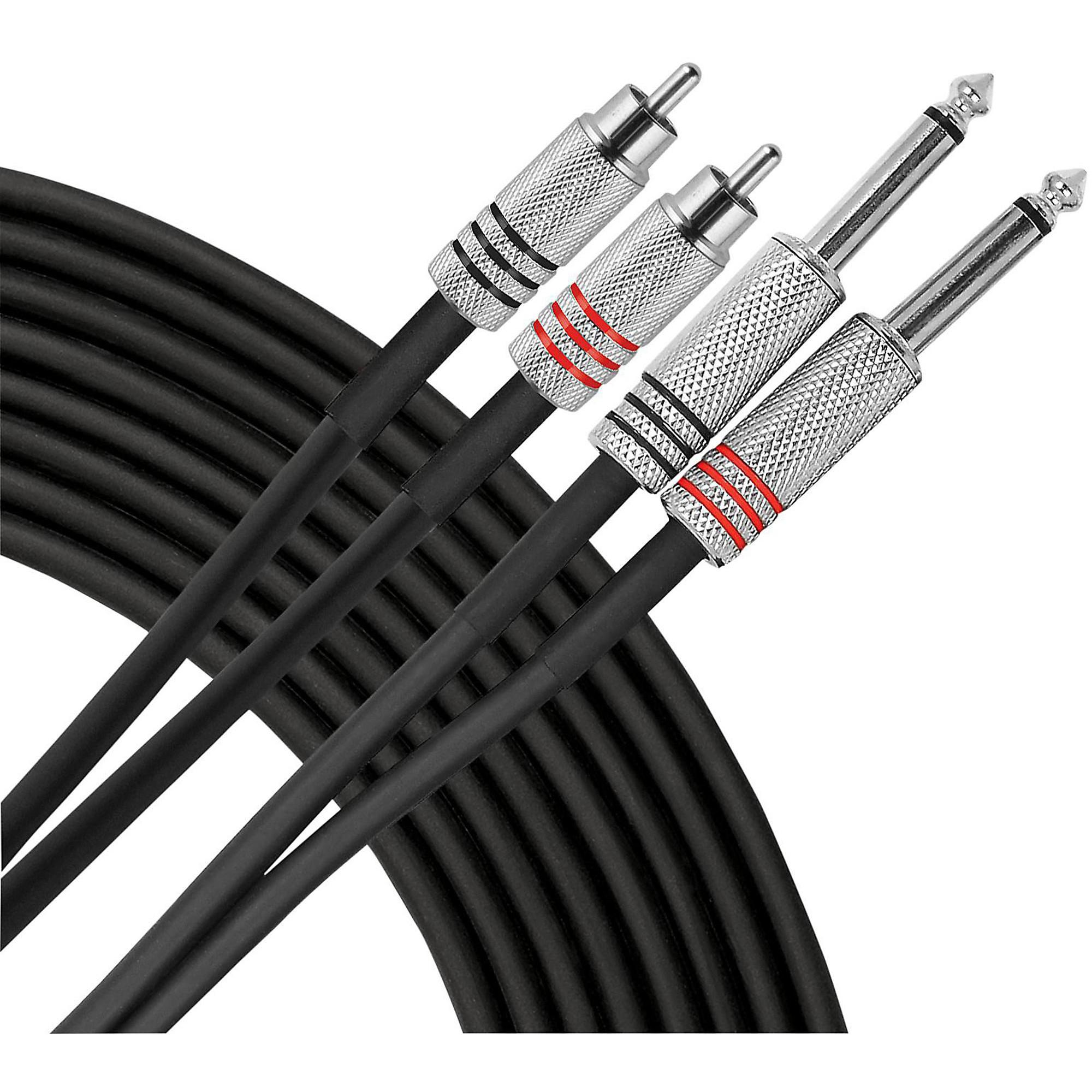 """Livewire Advantage 1/4""""-RCA Dual Patch Cable"""
