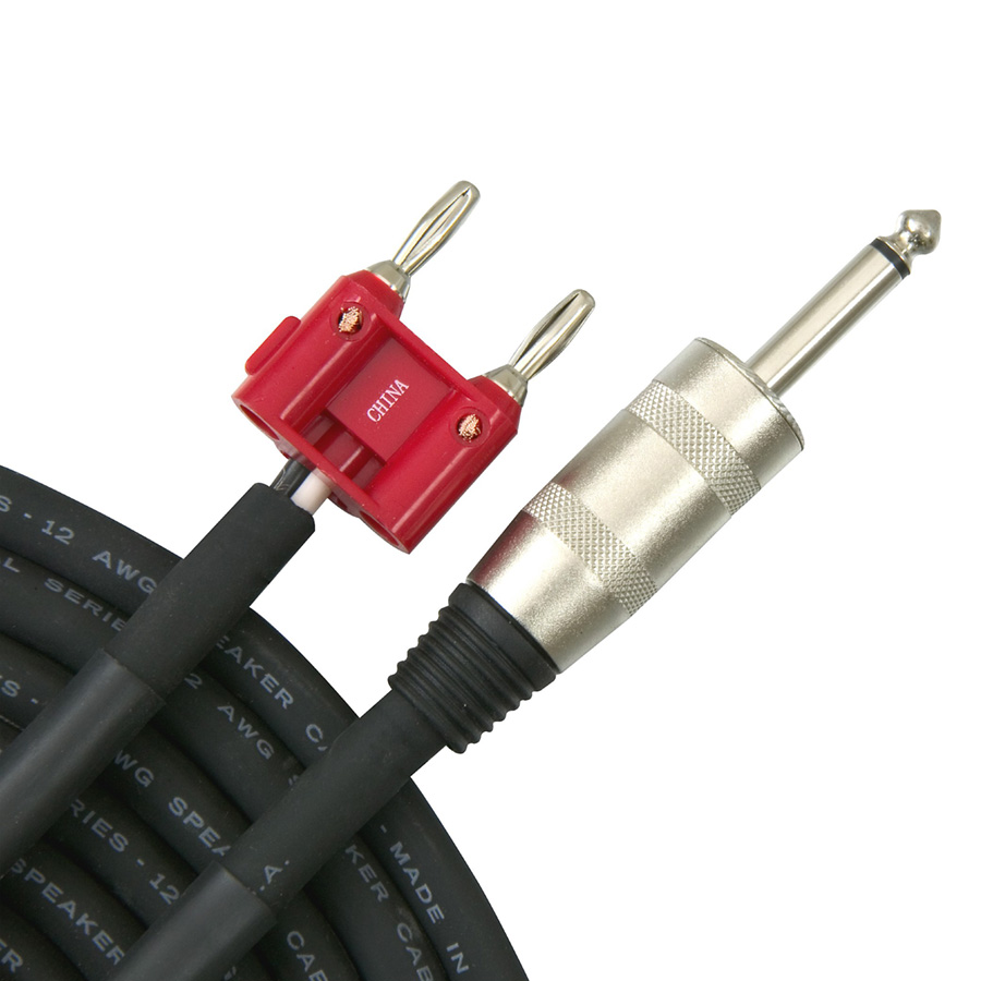 """Livewire Elite 12-Gauge 1/4"""" Banana Speaker Cable"""