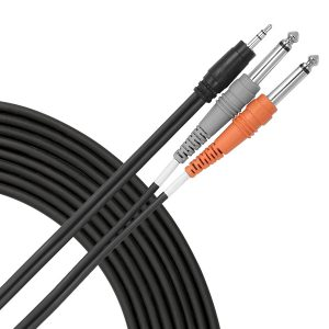 "SY10EQ Livewire Essential Y-Cable 3.5mm TRS - 1/4"" TS"